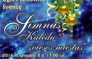 Kalėdų eglutės įžiebimo šventė Simne