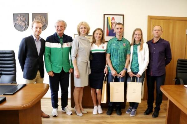 Į Rio de Žaneirą išlydėti net trys olimpiečiai iš Alytaus