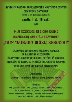 44-oji kaimo muzikantų šventė-varžytuvės Luksnėnuose