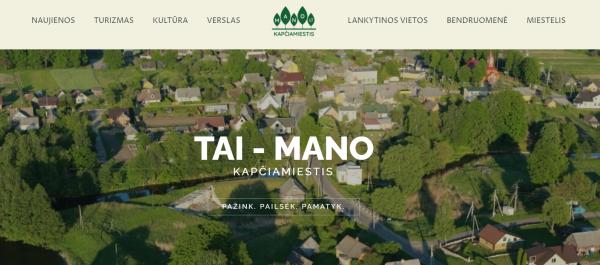 Kapčiamiesčio bendruomenė lankytinas miestelio vietas pristato naujame tinklapyje