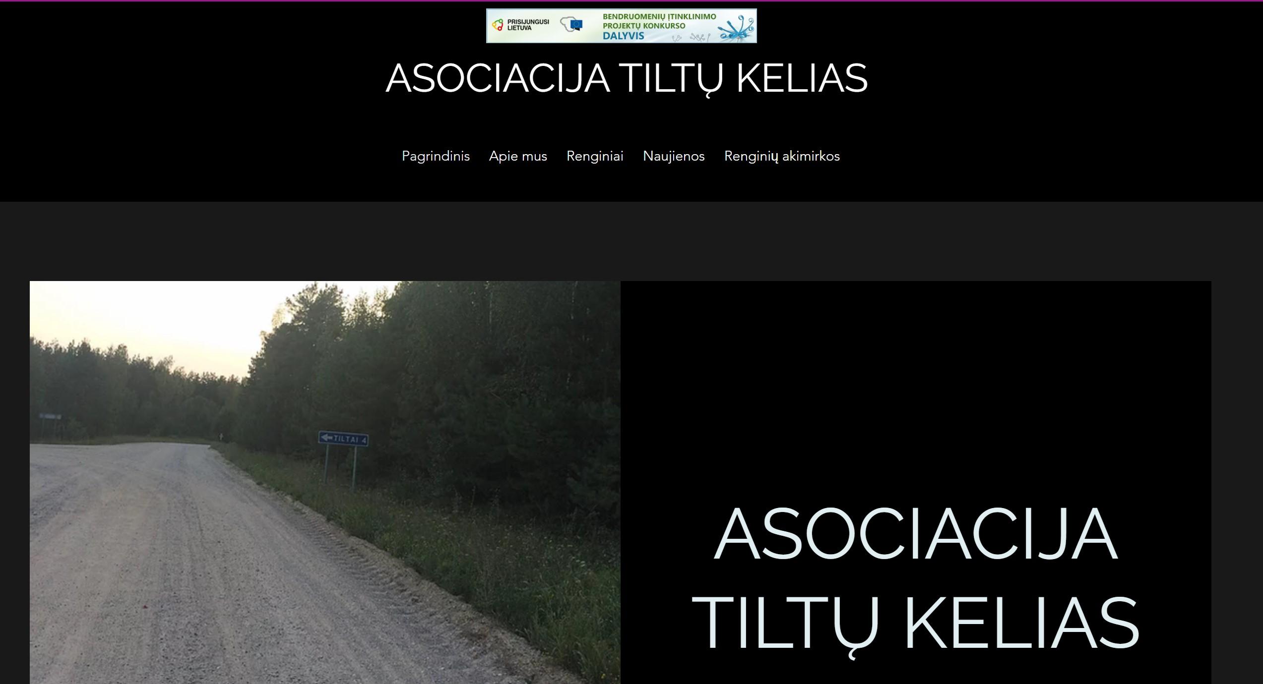 """Asociacijos """"Tiltų kelias"""" internetinėje svetainėje – informacija apie organizacijos veiklas"""